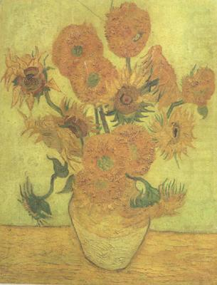Still life Vase with Fourteen Sunflowers (nn04), Vincent Van Gogh
