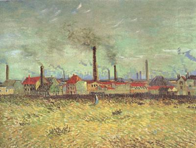 Factories at Asnieres Seen from the Quai de Clichy (nn04), Vincent Van Gogh