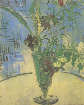 Still life:Glass with Wild Flowers (nn04), Vincent Van Gogh