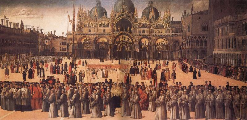 Gentile Bellini Procession in St Mark's Square