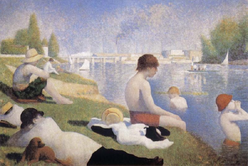 Bathers at Asnieres, Georges Seurat