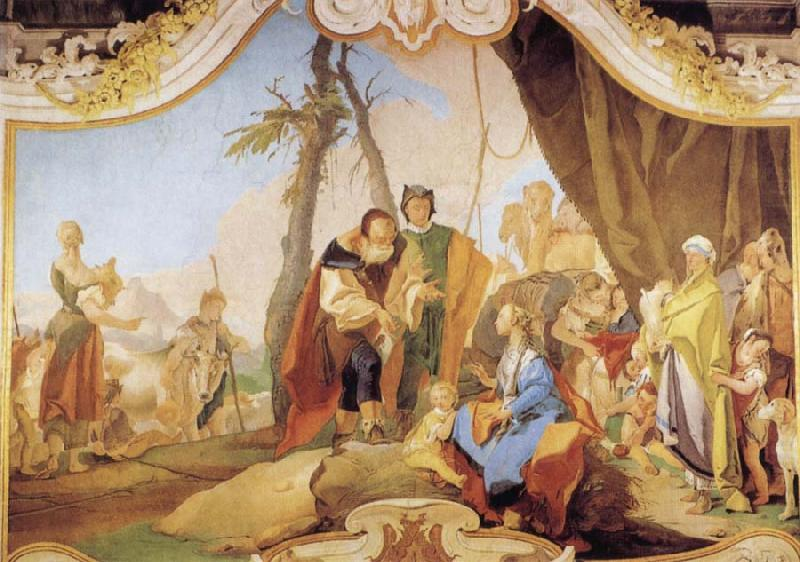 Rachel Hiding the Idols from her Father Laban, Giovanni Battista Tiepolo