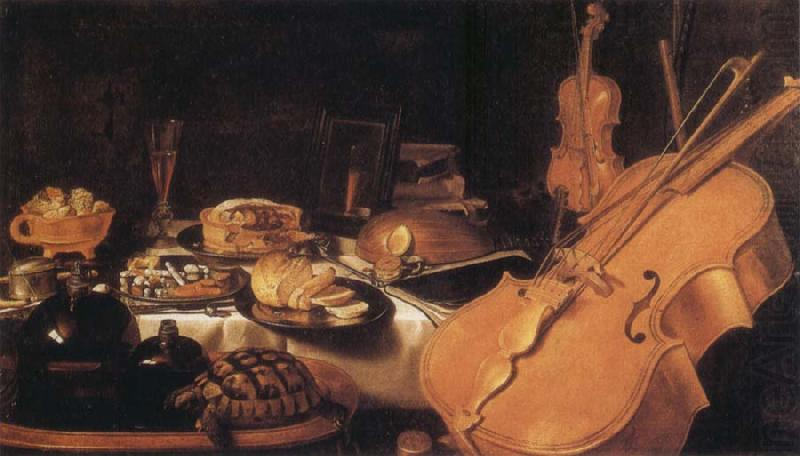 Still Life with Museum instruments, Pieter Claesz