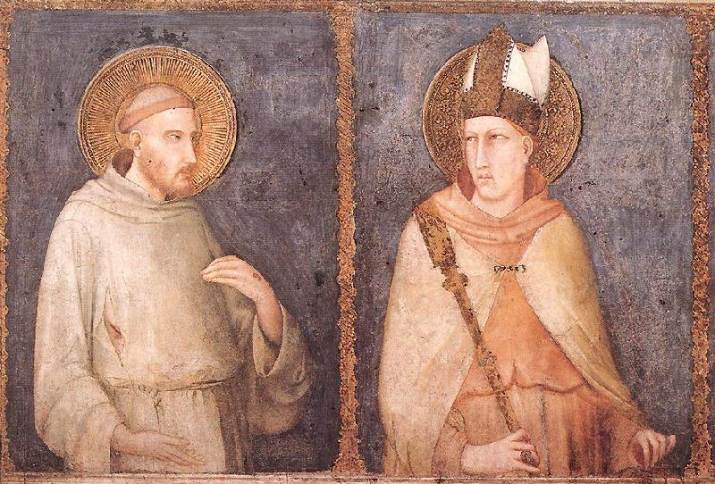t Francis and St Louis of Toulouse, Simone Martini