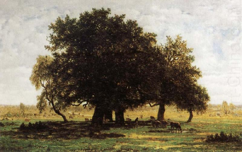 Oak Trees near Apremont, Theodore Rousseau