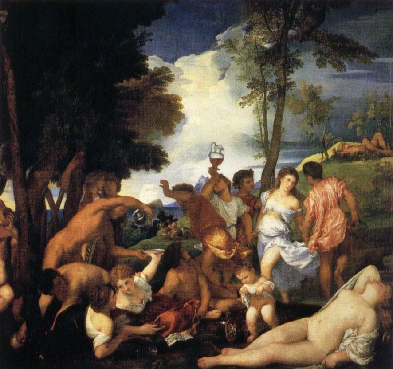 Bacchanal of the Andrians, Titian